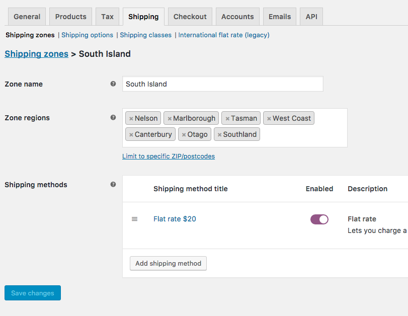 WooCommerce_South-island-shipping